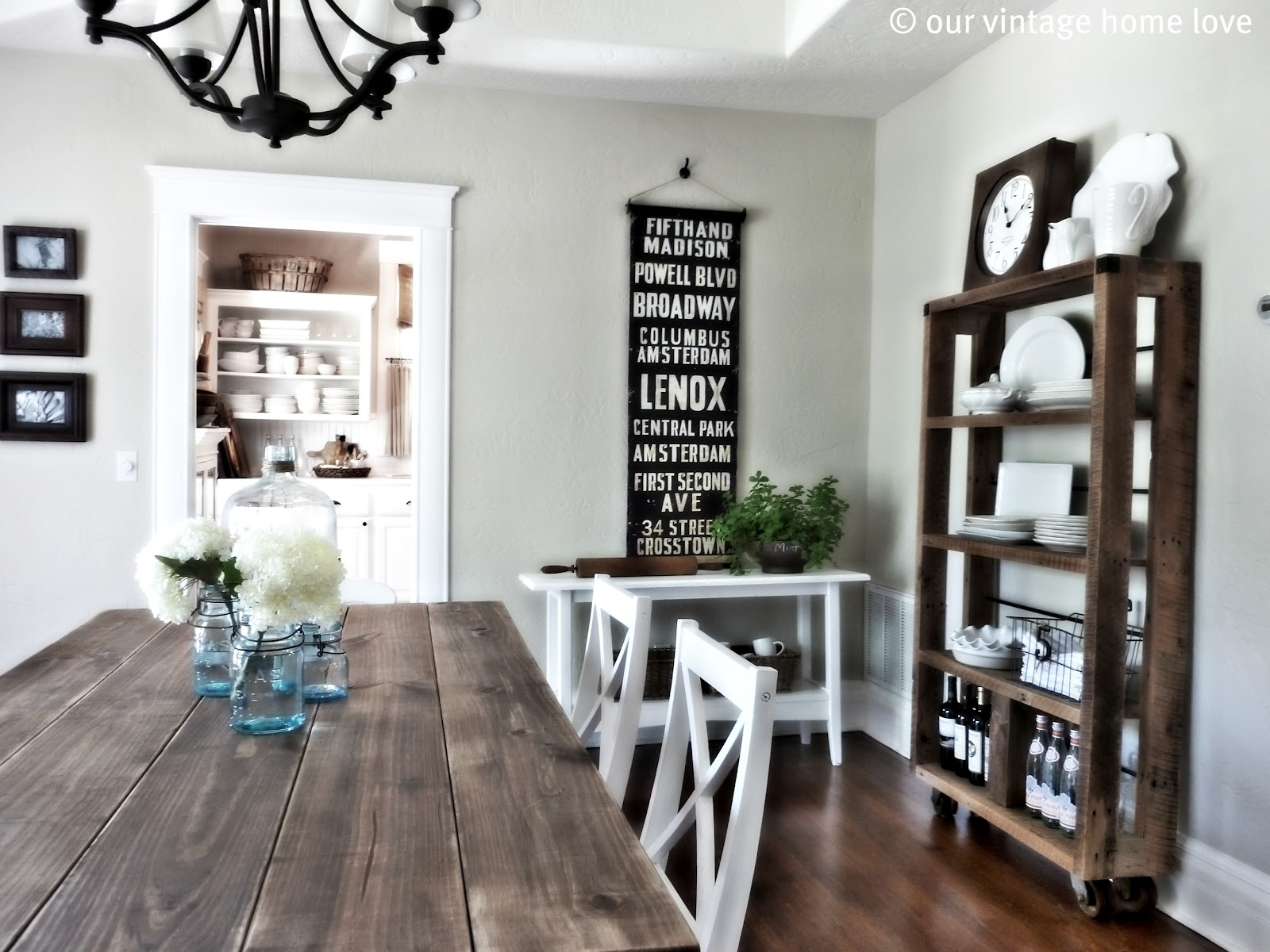 Dining Room Table with Shelf