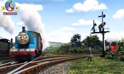 Percy Gordon Thomas the tank engine Emily and James the red engine locomotives the Fat Controller