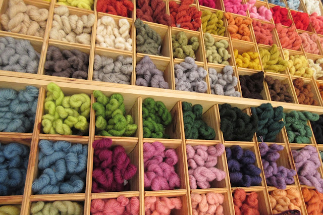 Rainbow yarn - Knitting and Stitching Show