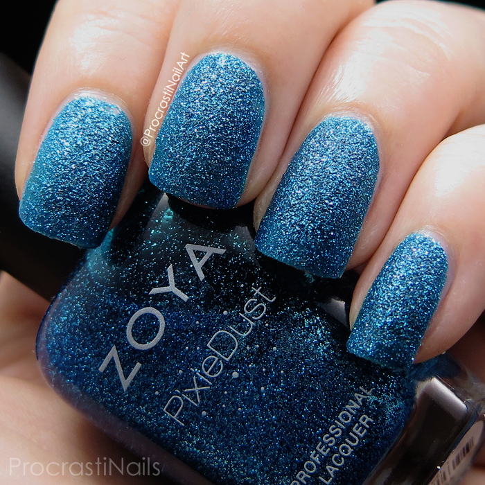 Swatch of Zoya PixieDust Liberty textured nail polish