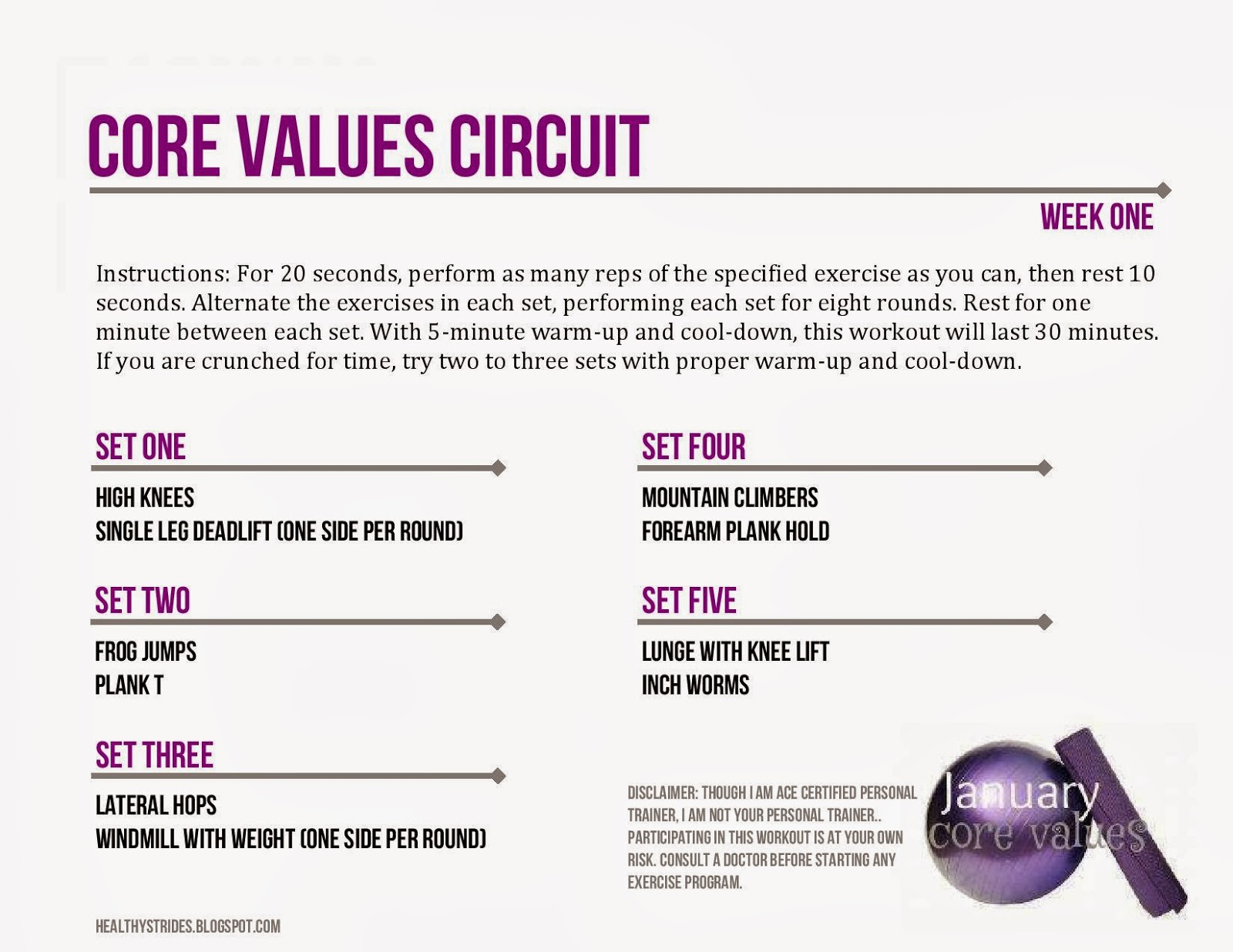 Footnotes: Core Values: 30-minute challenge