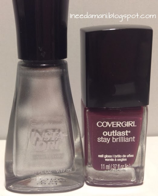 sally hansen insta dri silver sweep cover girl outlast crushed berries