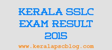 Kerala SSLC Exam Result 2015