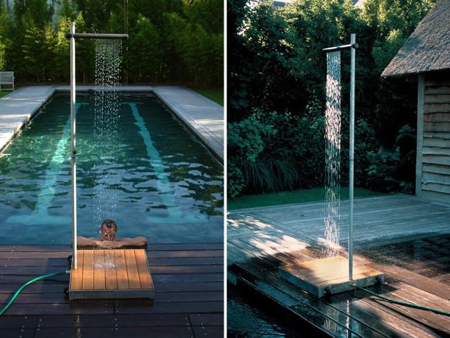 Marzua cascade la ducha de exteriores para un jard n - Duchas para jardin ...