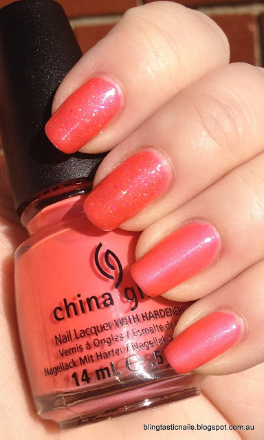 China Glaze Flirty Tankini and Bad Kitty