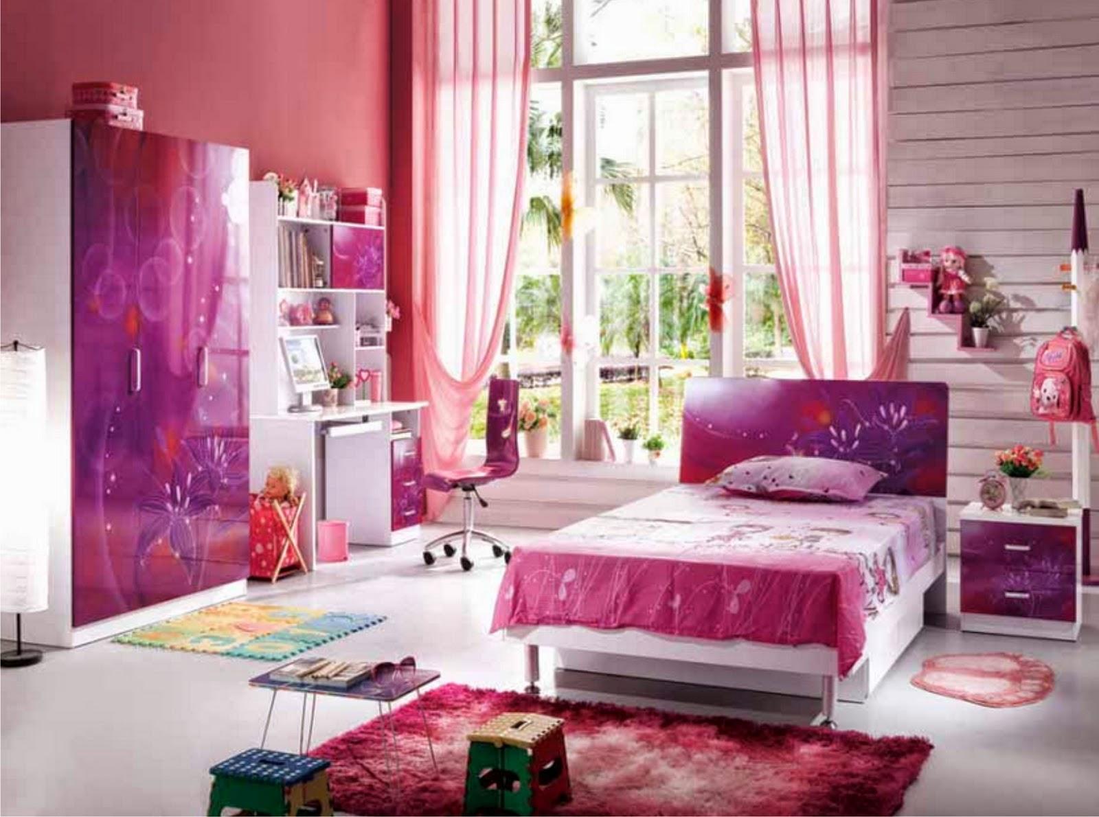 Desain kamar tidur perempuan 2014