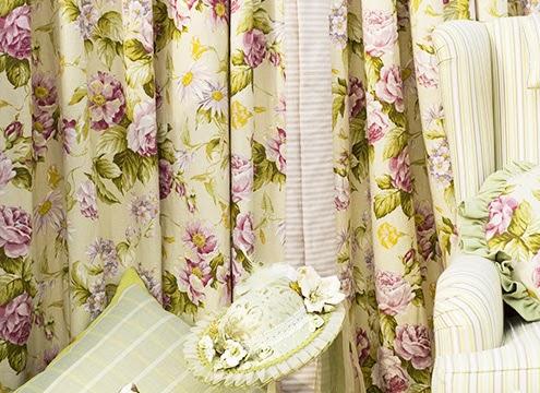 窗簾|花草是鄉村風家飾布藝的重要元素