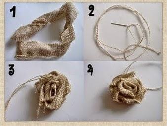Kerajinan Tangan Dari Botol Bekas - Membuat Vas Bunga Burlap  & Lace