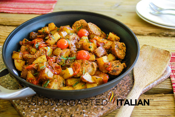 Hearty Italian Sausage and Potatoes - One Pot Meal @SlowRoasted