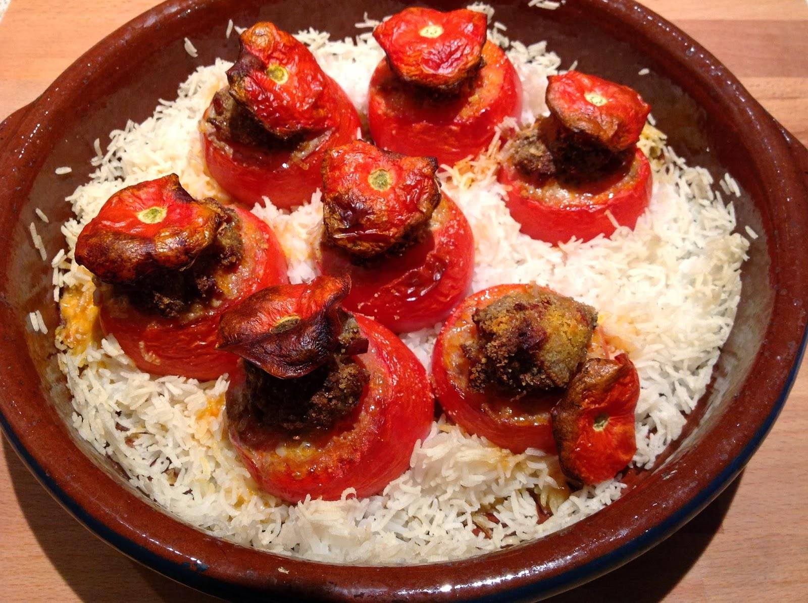 miam, maman j'ai faim!: tomates farcies boeuf et chorizo