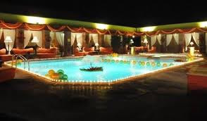 Serena Hotel Faisalabad inside swimming pool open view