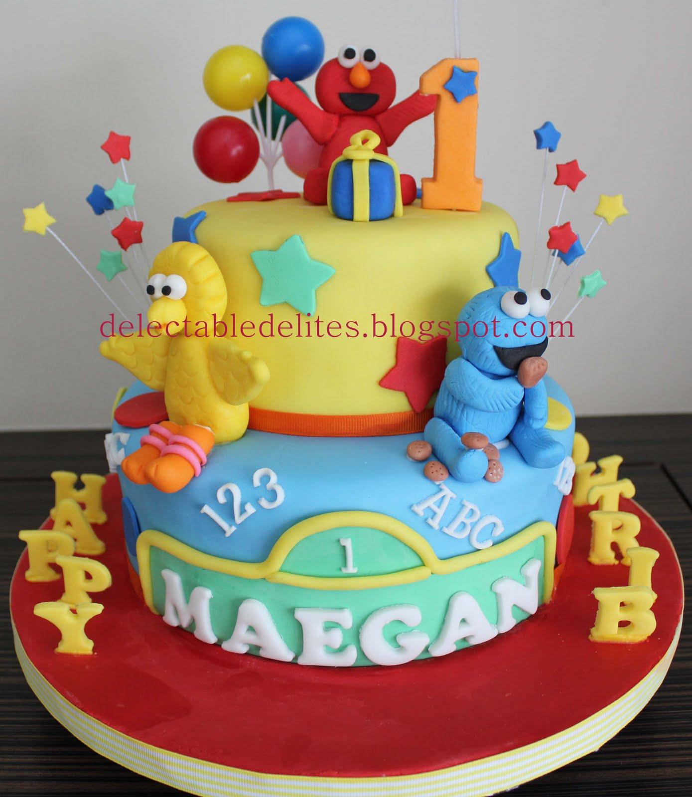 Delectable Delites Sesame Street theme cake for Maegan