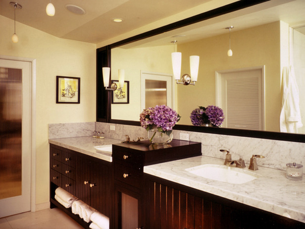 modern bathroom sink decorating ideas