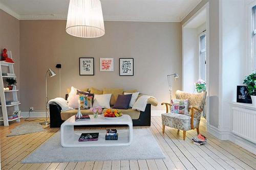 design ruang tamu mungil