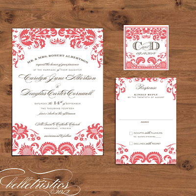 damask diy printable wedding invitation design