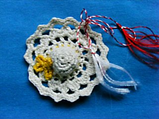martisor handmade unicat brosa croset