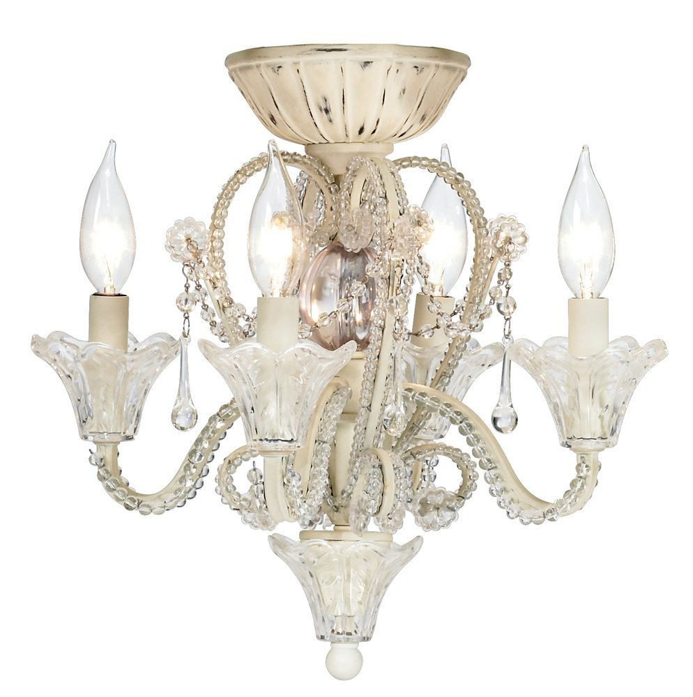glass fan ceiling vireo chandelier in savoy shade dust cream shown inch organza crystals silver mica pin finish with and ceilings house