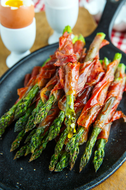 Crispy Prosciutto Wrapped Asparagus Fries
