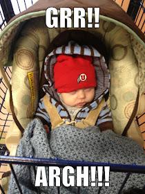 Sleeping baby in cart