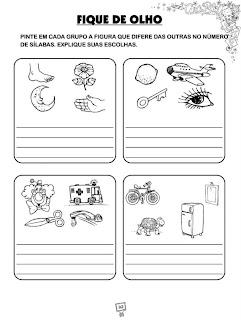 Atividades De Alfabetização - Pinte o grupo de figuras