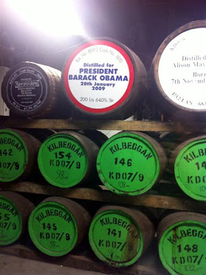 Stitch and Bear - Commemorative whiskey casks at the Old Kilbeggan Distillery