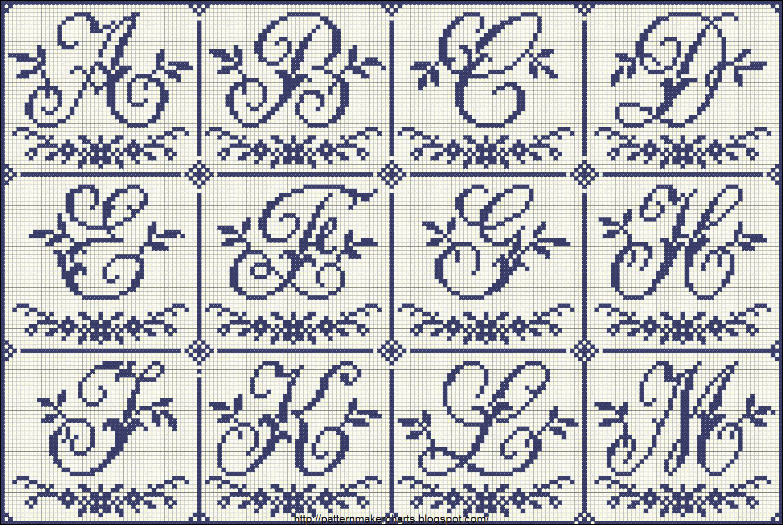 Free easy cross pattern maker pcstitch charts free for Alfabeto punto croce grande