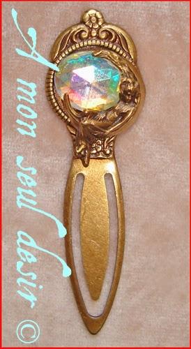 Marque Page Lune Déesse Cristal AB Aurore Boréale Crystal AB aurora borealis Moon Goddess Book Mark Séléné