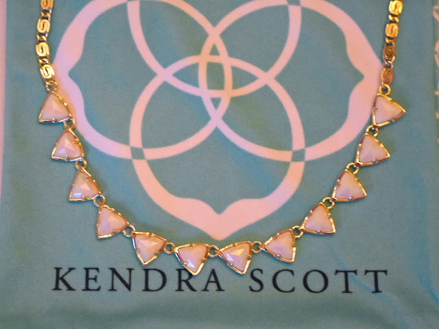 free rocksbox kendra scott necklace white glass