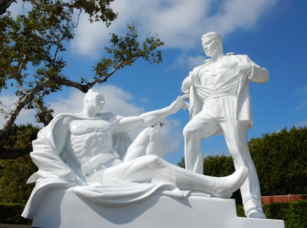 White Modern Heroes statue West Hollywood Park