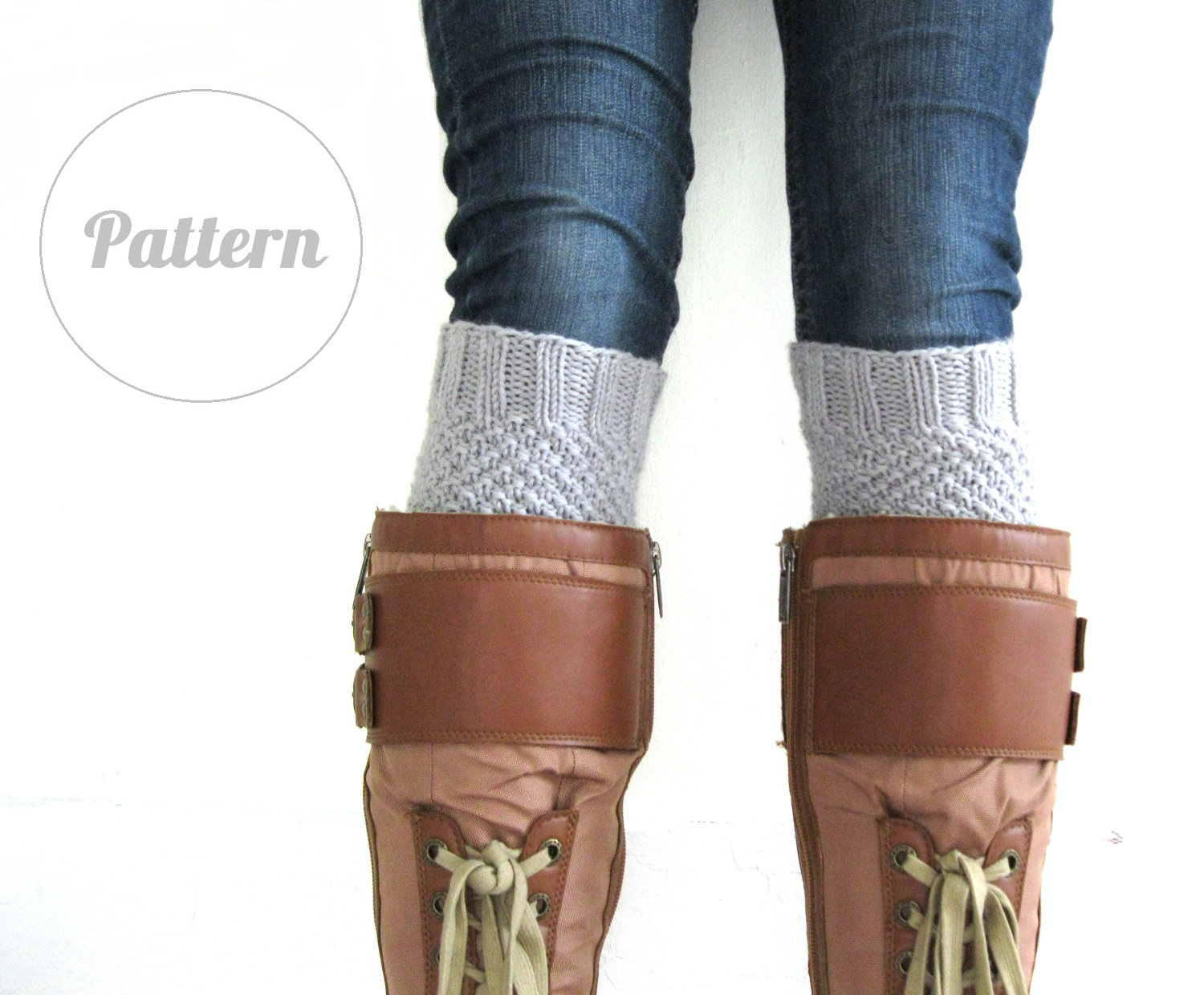 Knitted Boot Cuff Pattern : Funky Fresh Fraziers: Boot cuff pattern