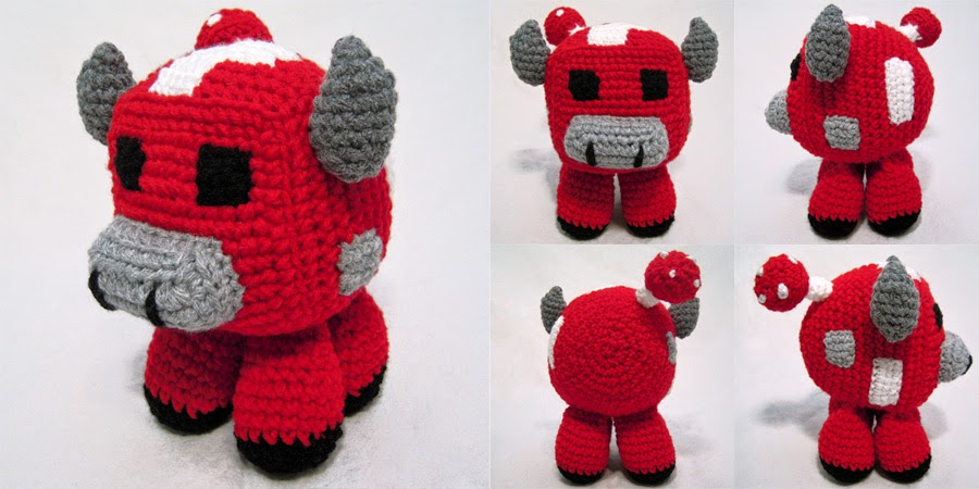 Orca Amigurumi Free Pattern : i crochet things: Pattern: Minecraft Mooshroom Amigurumi
