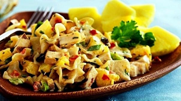 Салат курица с ананасом вкусный рецепт - Ресторан дома