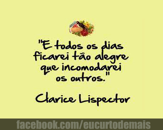 Clarice Lispector Frases Pro Face