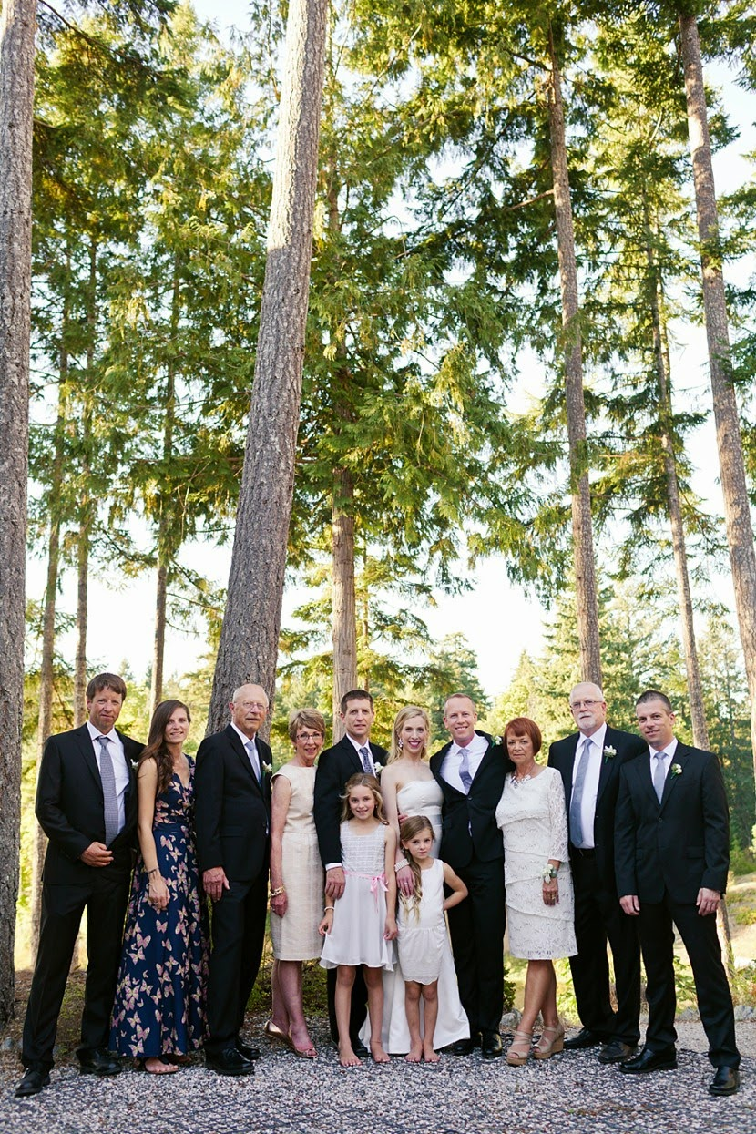 family portrait wedding photo