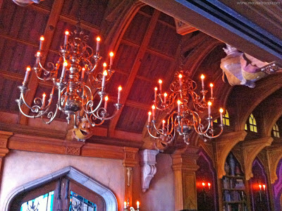Mr. Toad's Wild Ride Disneyland chandeliers library queue