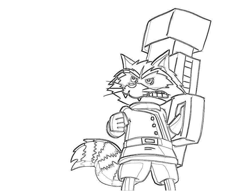 Rocket Raccoon Chibi | Lowland Seed