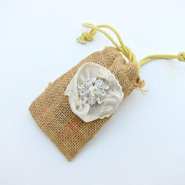 DIY Burlap and Bling Favor Bags