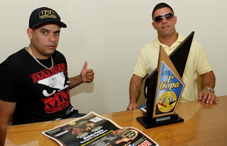 Claudio Muniz (Claudinho) e Gilmar Rabelo (Mazinho), organizadores do The Coliseum Fight & Music