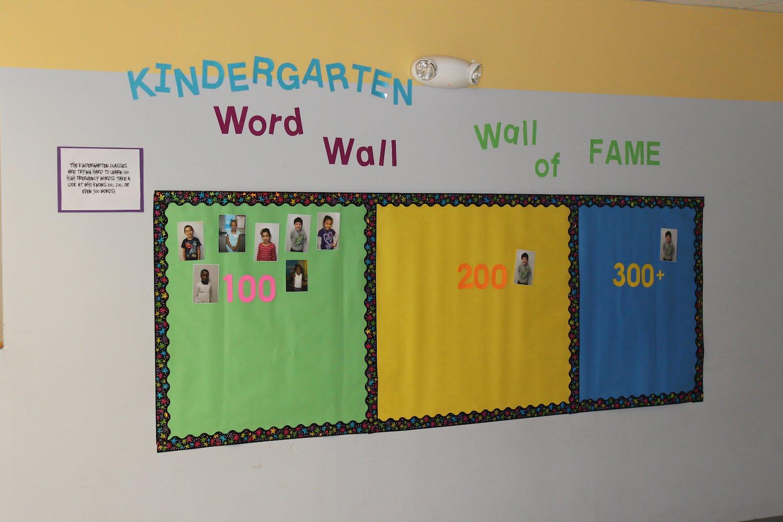 Krazy Kindergarten: Kindergarten Word Wall Wall of Fame!
