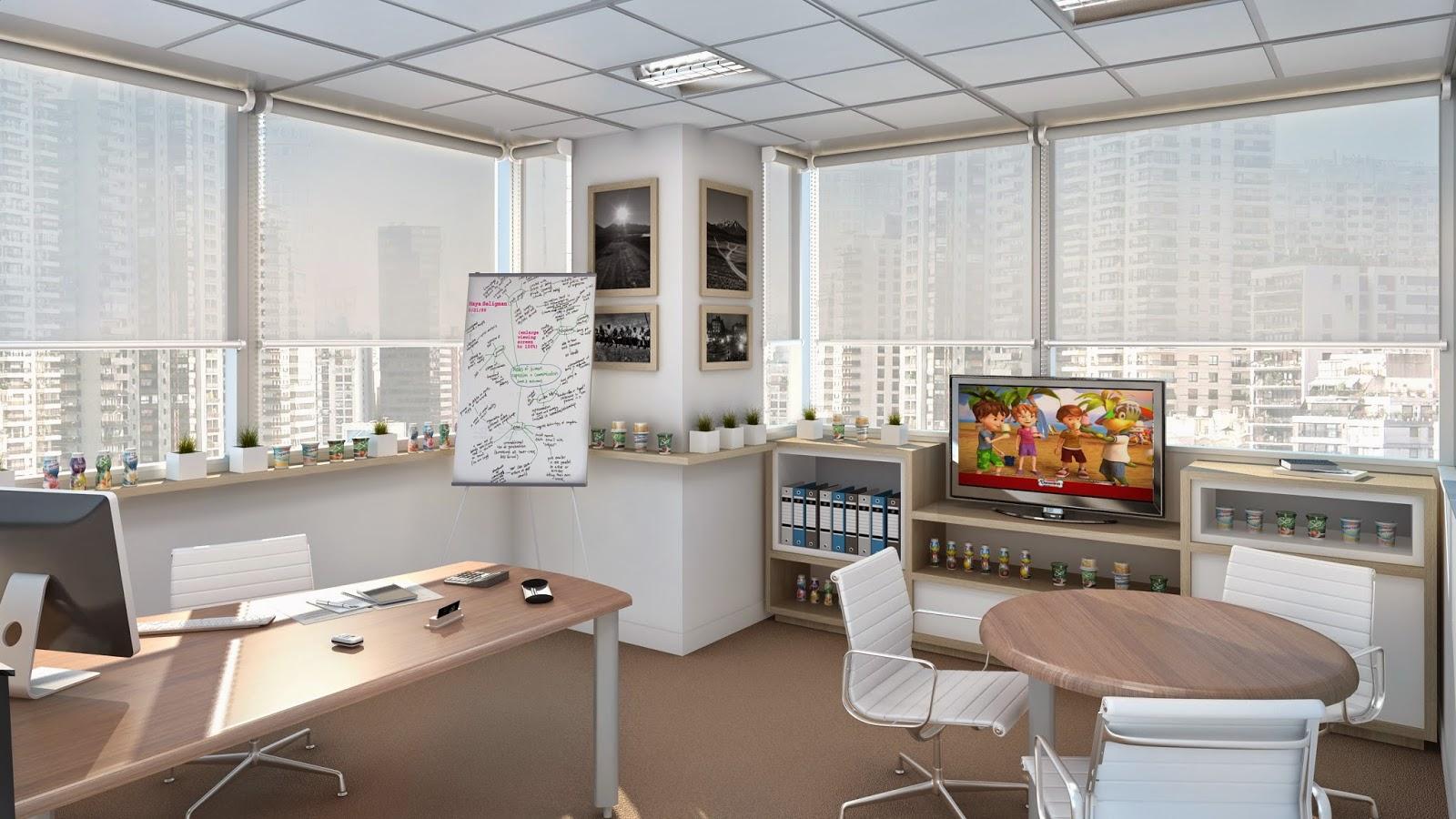 Renders arquitectura for Oficinas interiores