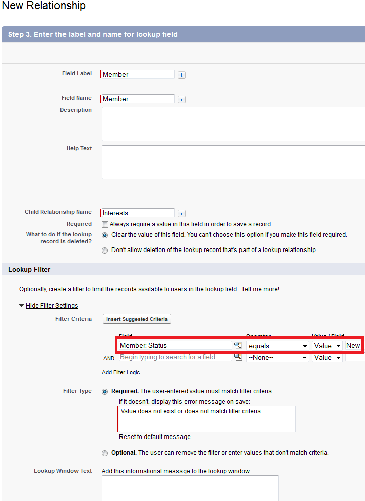Infallible Techie: Lookup filter in Salesforce