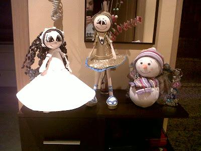 Fofucha comunión, fofucha muñeco de nieve y fofucha gimnasta