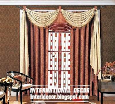 best curtain models 2015, draperies curtain model with stylish scarf, linen curtain