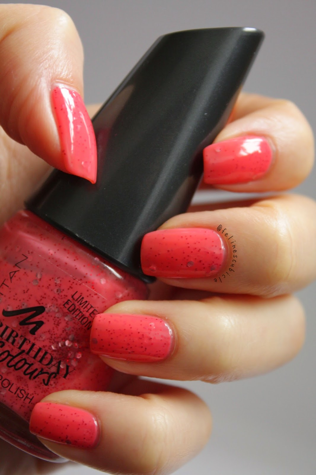 Not That New Anymore But I Still Wanted To Show You Strawberry Cake By Manhattan From Their Birthday Colours Collection This Has A Coral Pink Crelly