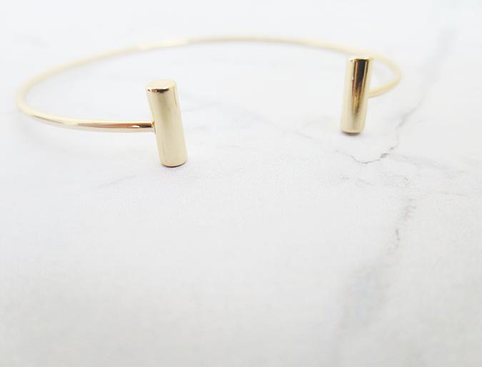 orelia jewellery gold open bar bangle