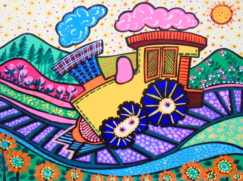 Cuadros pinturas oleos cuadros infantiles modernos con - Pintura infantil pared ...