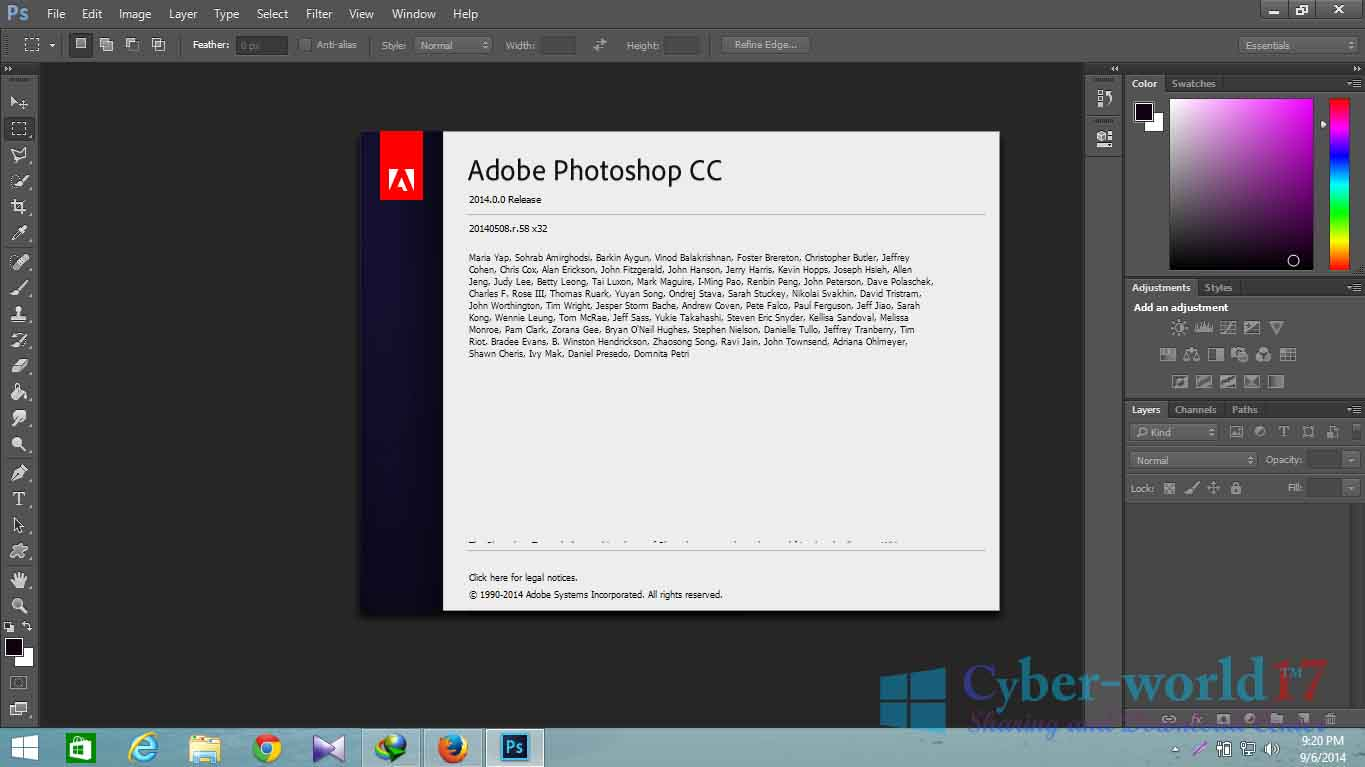 Crack photoshop cc for 86 and 64 bits