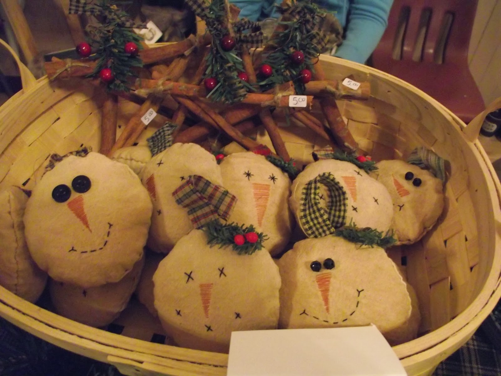 christmas craft show a success and a bunch of tutorials - Primitive Christmas Crafts