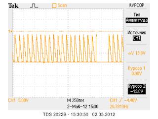 Осциллограммы заряда-разряда накопительной емкости, 10кВ - 1 кл