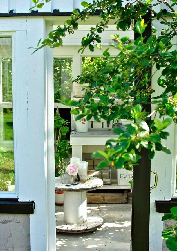 hannas växthus planteringsbord kabeltrumma aronia